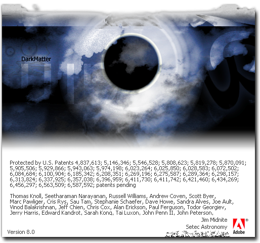 About box easter egg in adobe photoshop 7 0