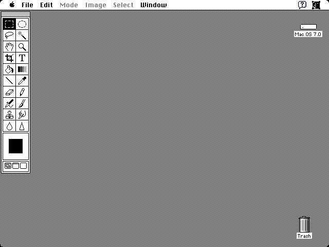 Empty workspace in Adobe Photoshop 1.0.7