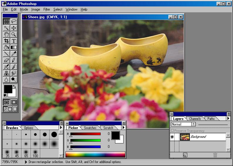 GUIdebook > ... > Photoshop > Adobe Photoshop 3.0.4