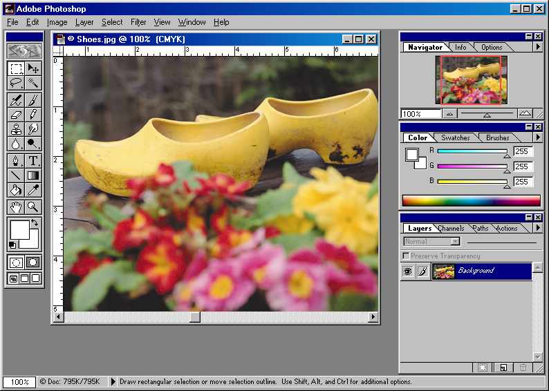 GUIdebook > ... > Photoshop > Adobe Photoshop 4.0