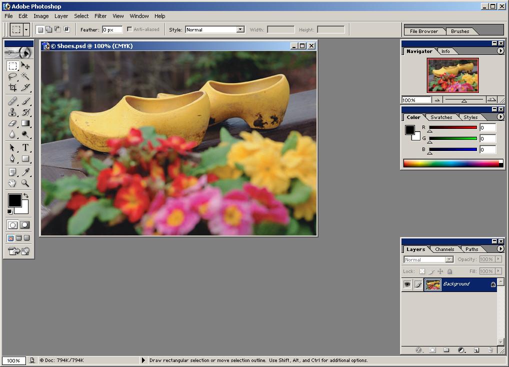 GUIdebook > ... > Photoshop > Adobe Photoshop 7.0