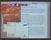 Photo 1: The familiar Macintosh interface, with its windows, icons, and pull-down menus, launched a thousand graphical user interfaces – which prompty took off in their own directions.