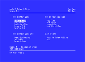 Apple IIe System Utilities
