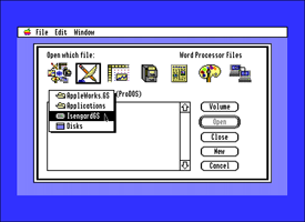 AppleWorks GS open file dialog