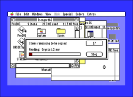 Apple IIGS System Software file copying