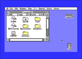 Apple IIGS System Software desktop