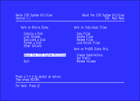Apple IIGS System Utilities