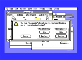 Apple IIGS System Software question dialog