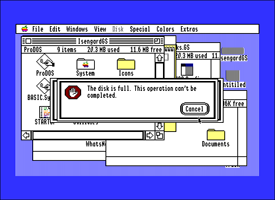 Apple IIGS System Software notification message