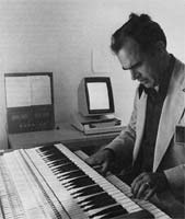 "MUSIC CAN BE REPRESENTED on the personal computer in the form of analogical images. Notes played on the keyboard are ""captured"" as a time-sequenced score on the display."