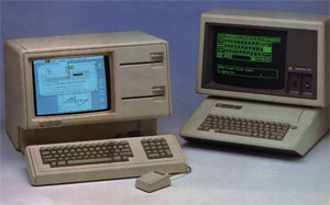 Apple Lisa and Apple IIe. Photograph by Mike Blake