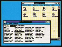 Because NewWave runs under Windows, you can use all of Windows' facilities with NewWave, as shown by the MS-DOS Executive and the NewWave Office.