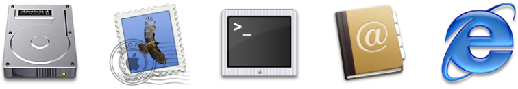 Icons from Mac OS X Jaguar 10.2