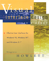 """Visual interface design for Windows"" front cover"