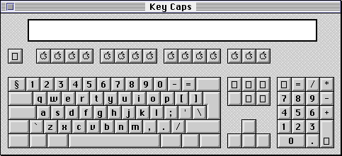 Keyboard map in System 7.5.3