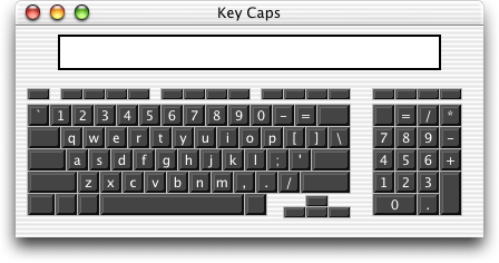 Keyboard map in Mac OS X Jaguar (Key Caps)