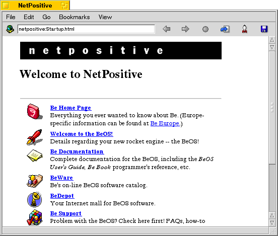 Browser in BeOS R5.0.1 PE
