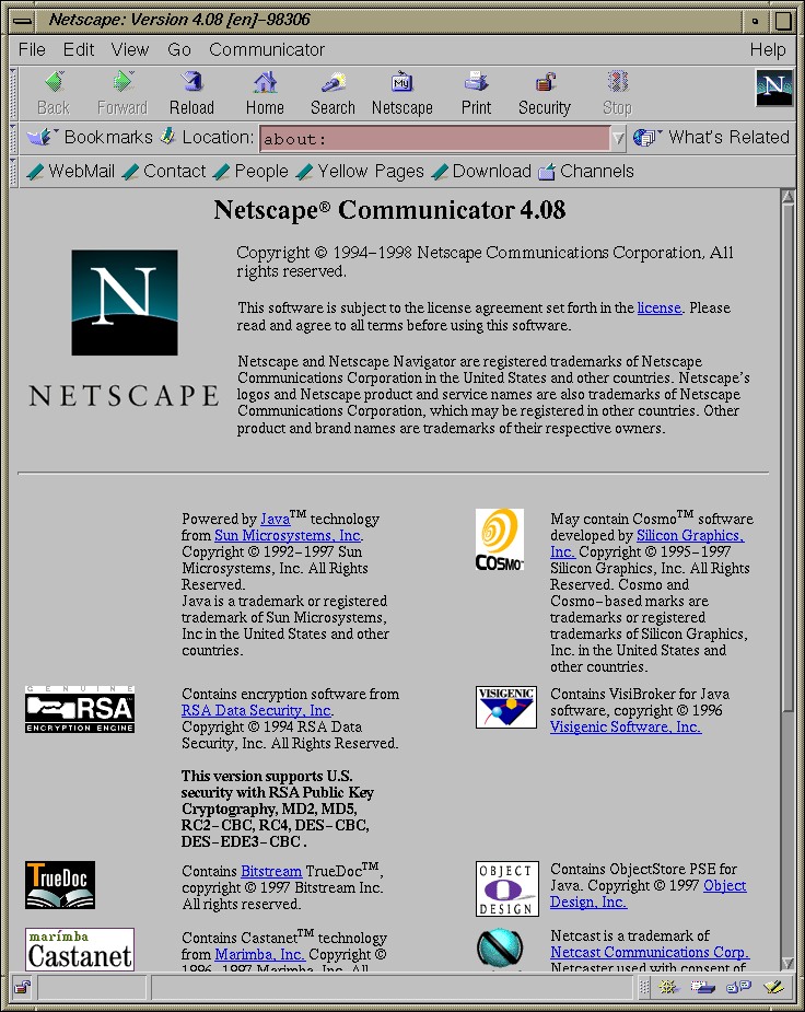 Browser in IRIX 5.3 (Netscape 4.08)