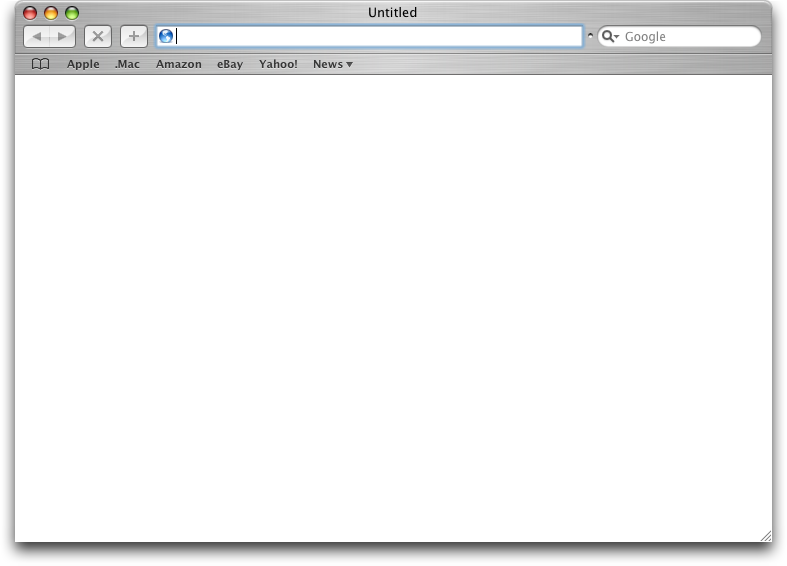 Browser in Mac OS X Panther (Safari)