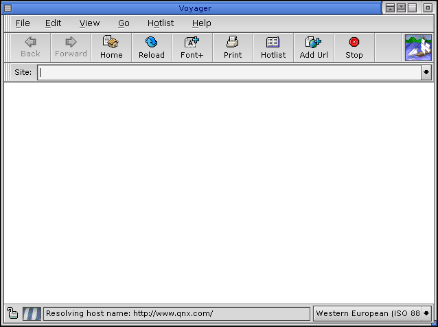 Browser in QNX 6.2.1 NC (Voyager)