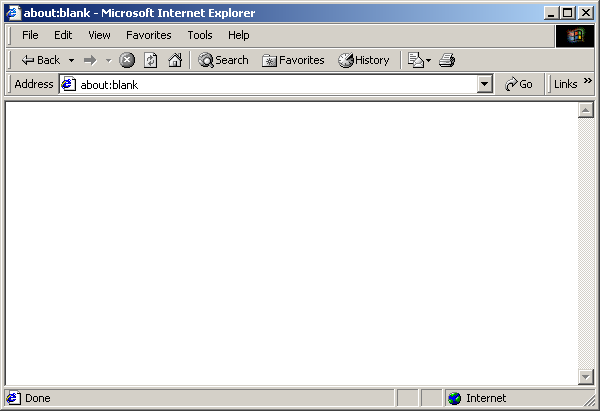 Browser in Windows 2000 Pro (Internet Explorer 6)