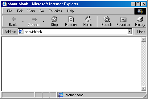 Browser in Windows 98 (Internet Explorer 4)