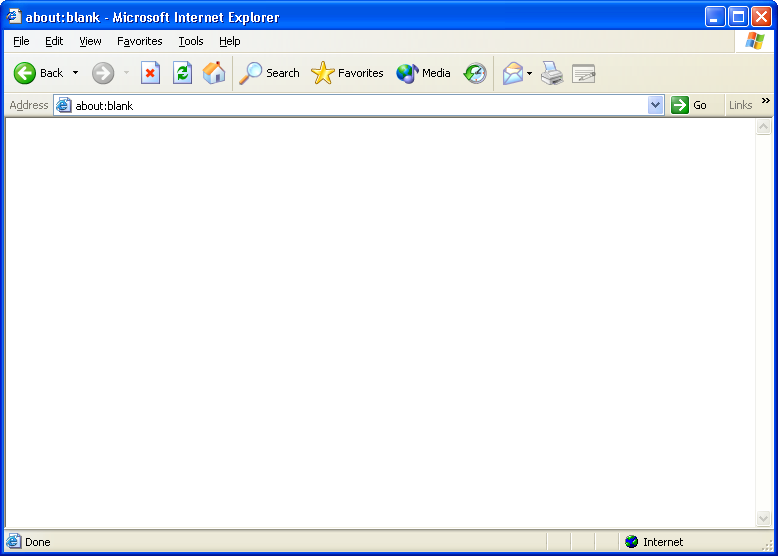 Browser in Windows XP Pro (Internet Explorer 6)