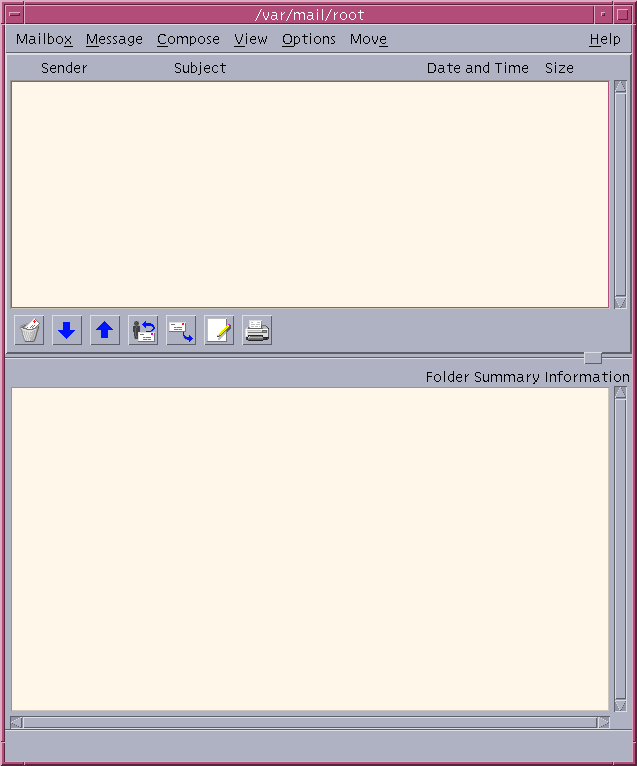 Mail in CDE 1.5 in Solaris 9