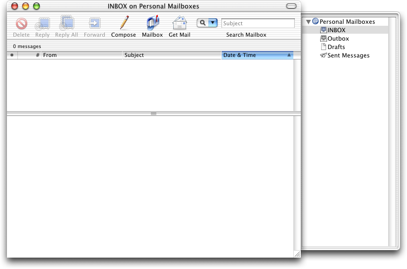 Mail in Mac OS 10.1 (Mail)