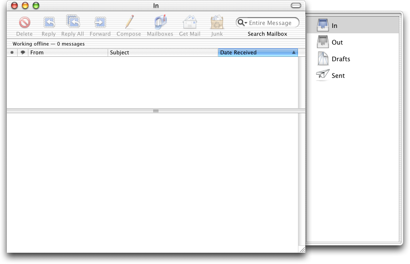 Mail in Mac OS X Jaguar (Mail)