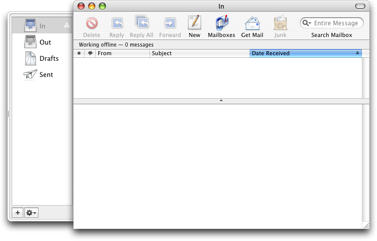 Mail in Mac OS X Panther (Mail)