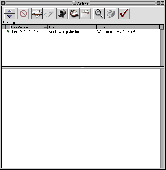 Mail in Mac OS X DP (MailViewer)