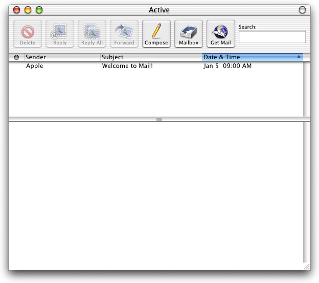 Mail in Mac OS X DP 3 (Mail)
