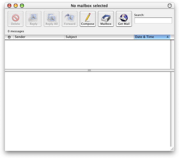 Mail in Mac OS X DP 4 (Mail)