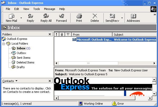 Mail in Whistler 2257 (Outlook Express 5.60)
