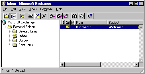 Mail in Windows 95 (Microsoft Exchange)
