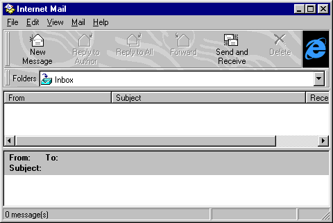 Mail in Windows 95B (Internet Mail)