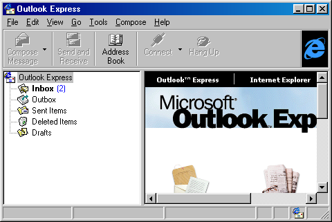 Mail in Windows 98 (Outlook Express 4)