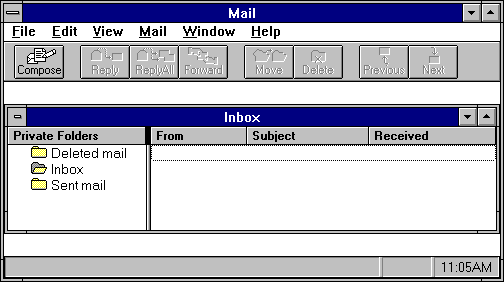Mail in Windows NT 3.51 Workstation
