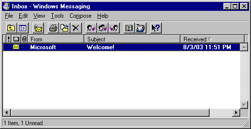Mail in Windows NT 4.0 Workstation