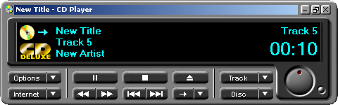 CD player in Windows 2000 Pro (CD Player)