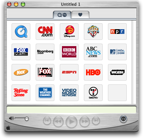 Media player in Mac OS 10.0.4 (QuickTime Player)