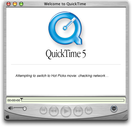 Media player in Mac OS 10.1 (QuickTime Player)