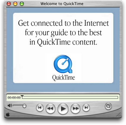 Media player in Mac OS X Jaguar (QuickTime Player)