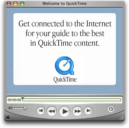Media player in Mac OS X Panther (QuickTime Player)