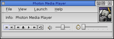 Media player in QNX 6.2.1 NC (Photon Media Player)