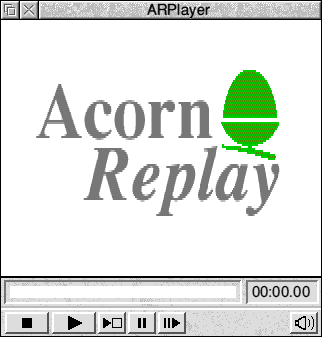 Media player in RISC OS 3.7 (Acorn Replay)