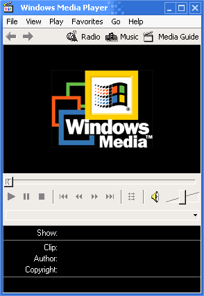 Media player in Whistler 2257 (Media Player 6.4)