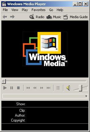 Media player in Windows 2000 Advanced Server