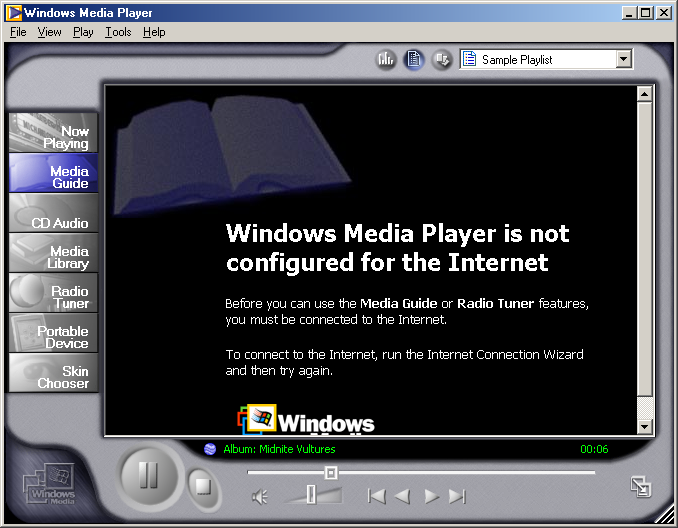 Media player in Windows Me (Media Player 7)